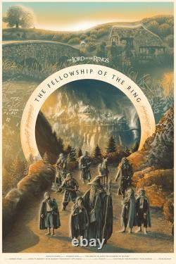 Lord of the Rings Fellowship by Tom Miatke Ltd x/225 Print Poster Art MINT Mondo
