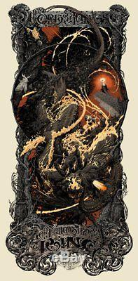 Lord of the Rings Fellowship of the Ring Aaron Horkey Mondo Movie Poster Print