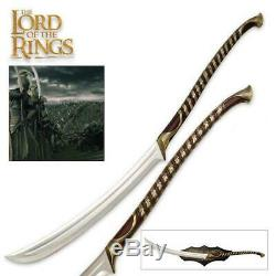 Lord of the Rings High Elven Warrior 50 Sword with Plaque UC COA Collectible