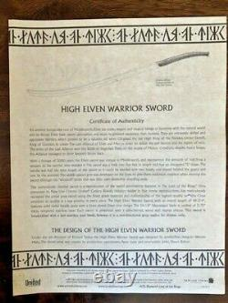 Lord of the Rings, High Elven Warrior Sword, United Cutlery UC1373 (2005)