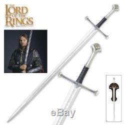Lord of the Rings King Elessar Anduril 41 Sword with Plaque United Cutlery COA