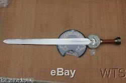 Lord of the Rings King Theoden Herugrim Sword and Wooden Plaque Sharp