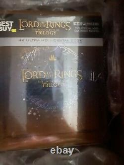 Lord of the Rings Motion Picture Trilogy SteelBook 4K Ultra HD Blu-ray IN HAND
