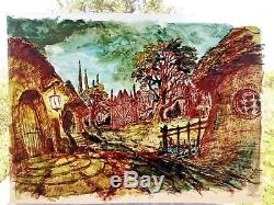 Lord of the Rings PRODUCTION cel MASTER background Ralph Bakshi Hobbit Tolkien