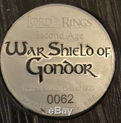Lord of the Rings Replica Gondor Shield United Cutlery 62/1500 LOTR NO RESERVE