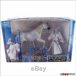 Lord of the Rings The Two Towers Gandalf Shadowfax horse set blue box