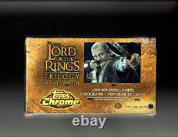 Lord of the Rings Topps Chrome Trilogy Movie Factory Sealed Box AUTOGRAPH