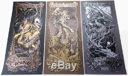 Lord of the Rings VARIANT Set Aaron Horkey MONDO Return of the King Two Towers