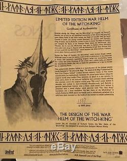 Lord of the Rings War Helm of the Witch King UC1457 Excellent condition