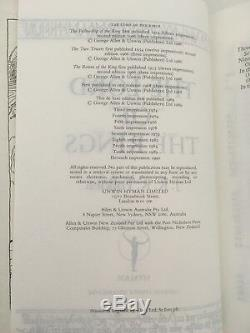 Lord of the Rings by JRR Tolkien Unwin Hyman Deluxe Edition 11th Impress 1990