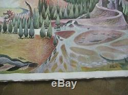 Lord of the rings Barbara Remington Vintage poster of painting 1970's Inv#G4803