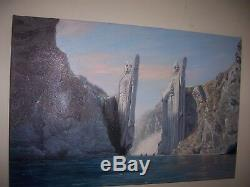 Lord of the rings fellowship Argonath oil painting 30x20 inches, UNFRAMED Price