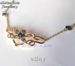 Lotr Eowyn Gold Flower Pendant Necklace Lord Of The Rings Rohan Hobbit Smaug