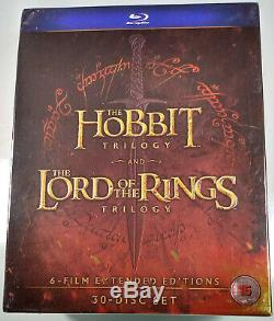MIDDLE EARTH COLLECTION Hobbit & Lord of the Rings Trilogy BLU-RAY Extended Ed