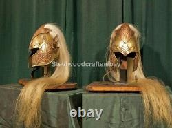 Medieval LOTR Elven Helmet Knight Helmet Lord of the ring Helmet With Plume