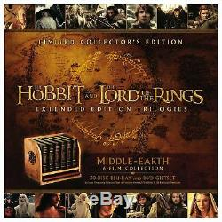 Middle-earth Limited Collector's Hobbit Lord of the Rings 30 Disc Blu-ray DVD