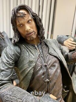 NECA 1/4 Scale Lord Of The Rings Figures Lot Gandalf Gollum Strider Legolas