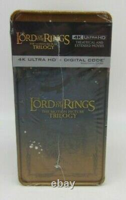 New! Lord of the Rings The Motion Picture Trilogy 4K Steelbook Set (READ)