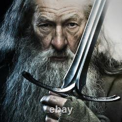 Officially Licensed The Lord of the Rings Glamdring Gandalf Sword LOTR with Plaque