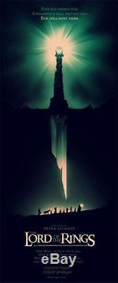 Olly Moss Lord of the Rings Mondo Screen Print 2012