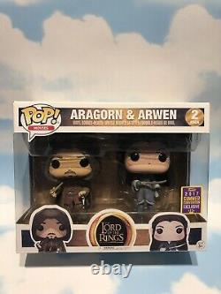Pop Vinyl Lord Of The Rings Aragorn & Arwen 2017 Summer Convention Exclusive
