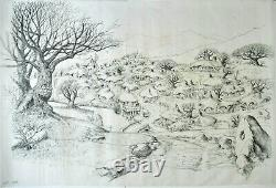 Ralph Bakshi's The Lord Of The Rings Original Shire In The Winter Background