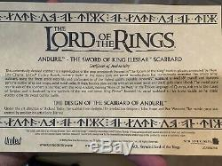 Rare Lord Of The Rings Sword Of Anduril Scabbard United Cutlery Narsil Uc1396