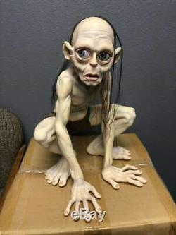 Rare Lord of the Rings Gollum Ring-bearer Side Show Display with Sound