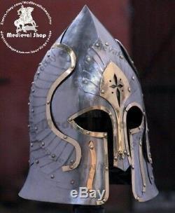 SCA LARP 18GA Medieval Helmet Lord of the Rings Helmet Replica Halloween Costume