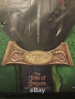 Sideshow Weta ARMS OF ARAGORN Lord of the Rings LotR Hobbit Weapons set Rare
