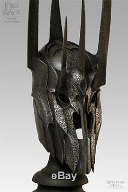 Sideshow Weta HELM OF SAURON LORD Lord of the Rings LotR Hobbit VERY RARE