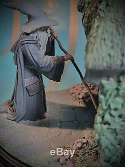 Sideshow Weta NO ADMITTANCE Bookends Lord of the Rings LotR Hobbit Gandalf Rare