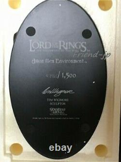 Sideshow Weta The Lord of the Rings Amon Hen Diorama Figure Limited Edition MIB