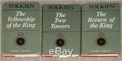 TOLKIEN LORD OF THE RINGS TRILOGY HC SET 2nd EDITION 1st PRN 1966 RARE