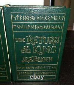 TOLKIEN Lord of the Rings Hobbit Silmarillion EASTON PRESS Deluxe 5 Book Lot