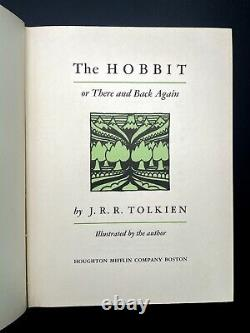 The Hobbit FIRST EDITION 1st Printing TOLKIEN 1937 Lord of the Rings 1966