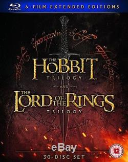 The Hobbit Lord Of The Rings Extended Middle Earth 6 Film Blu-Ray Region Free