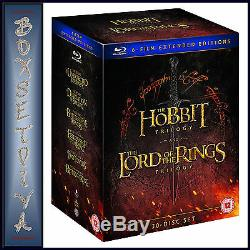The Hobbit Trilogy & Lord Of The Rings Trilogy 6 Film Extended Bluray