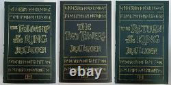 The Lord Of The Rings Trilogy by JRR Tolkien Easton Press Genuine Leather