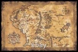 The Lord of The Rings Movie Poster Print Map of Middle Earth 36x24' (Unframed)
