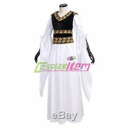 The Lord of the Rings Eowyn Shield Maiden Outfit Dress Halloween Costume Cosplay