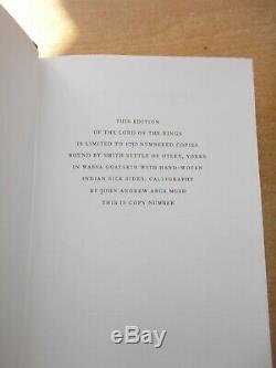 The Lord of the Rings J R R Tolkien Folio Society 2002 Limited Edition