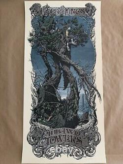 The Lord of the Rings Trilogy Aaron Horkey Regular Signed Set Mondo poster print