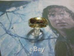 The ONE Ring the Lord of the Rings made Yellow GOLD 18 K. Artisan product