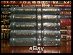 Tolkien Hobbit Lord Of The Rings Silmarillion New Easton Press Leather Bound Set