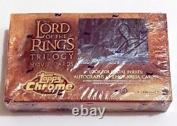 Topps Chrome Lord of the Rings Trilogy Movie Trading Cards Hobby Box lotr