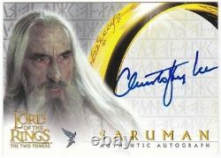 Topps Lord of the Rings LOTR Christopher Lee Auto Autograph the Two Towers