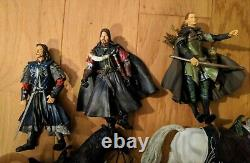 Toy Biz Lord Of The Rings LOTR 18 figures + 2 horses Loose Action Figures Lot