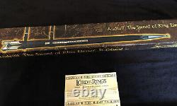 UC1396 Anduril Scabbard Original 2004 Lord Of The Rings United Cutlery