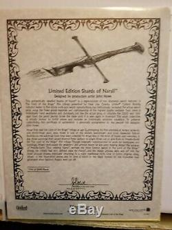 United Cutlery Lord Of The Rings Shards Of Narsil Sword Ucc1296 #3463/5000